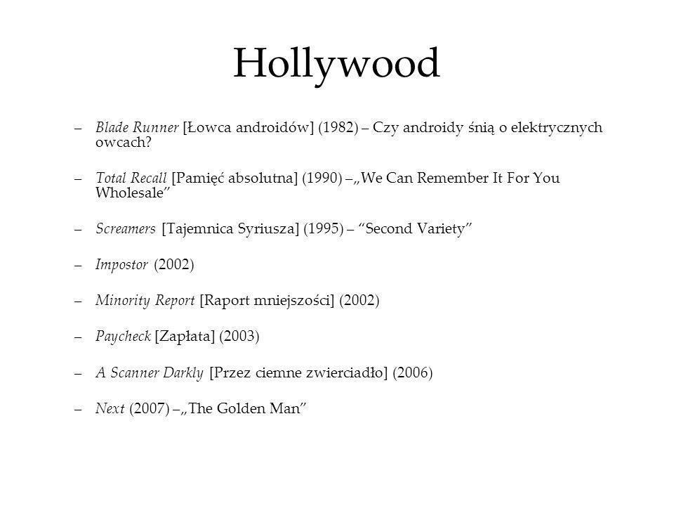 Hollywood Blade Runner [Łowca androidów] (1982) – Czy androidy śnią o elektrycznych owcach